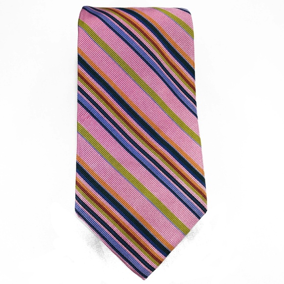 Robert Talbott Purple and Yellow Stripe Best of Class Tie